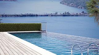 Campione d'Italia, villa con vista lago